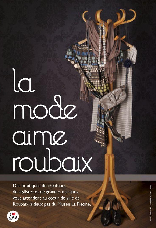 La mode aime Roubaix © création Amandine Derachinois - Ville de Roubaix