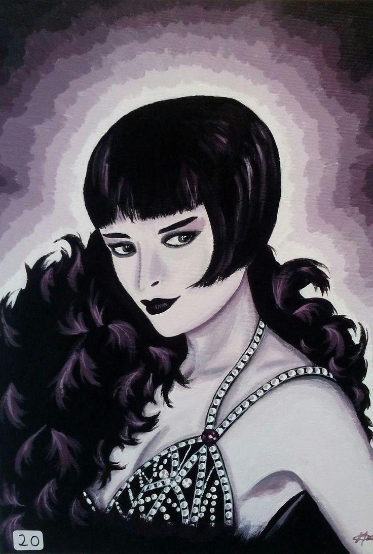 Femme des ann es 20 peinture acrylique opale isis christine monsion en vente sur a little - Femmes annees 20 ...