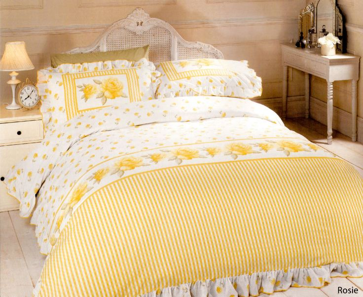 vintage rose duvet cover set frilled cotton blend yellow double king quilt bed in home furniture u0026 diy bedding bed linens u0026 sets bedding sets u0026 duvet