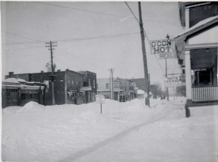 Main Street, Thessalon, Winter Circa 1950