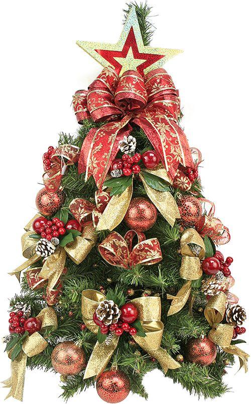 Mini pino navide o rbol de navidad mo os adorno - Decoracion arboles navidenos ...