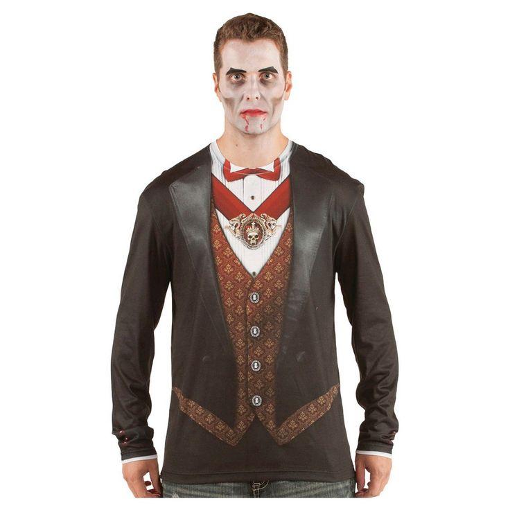 Men's Vampire Costume Shirt XX-Large, Size: Xxl, Variation Parent Black