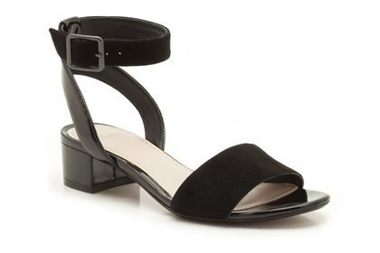 Womens Smart Sandals - Sharna Balcony in Black Combination Suede from Clarks shoes