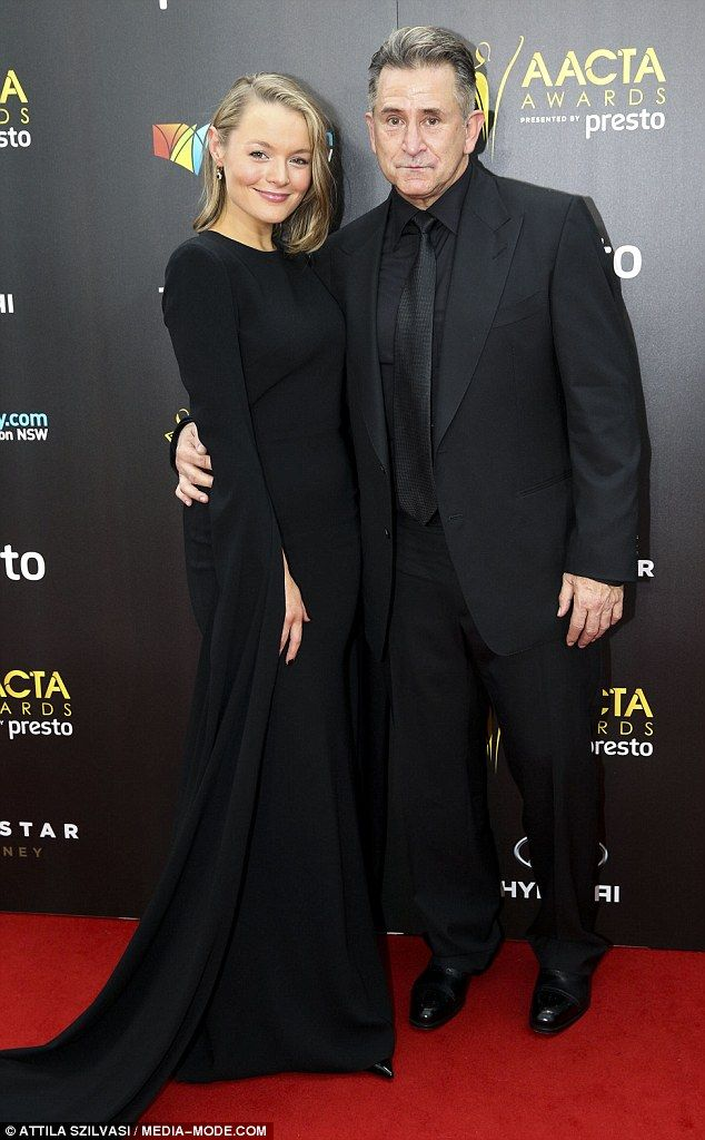 Matching: Australian actor Anthony LaPaglia and new flame Alexandra Henkel stepped out for their second public appearance on Wednesday, attending the  AACTA Awards in Sydney