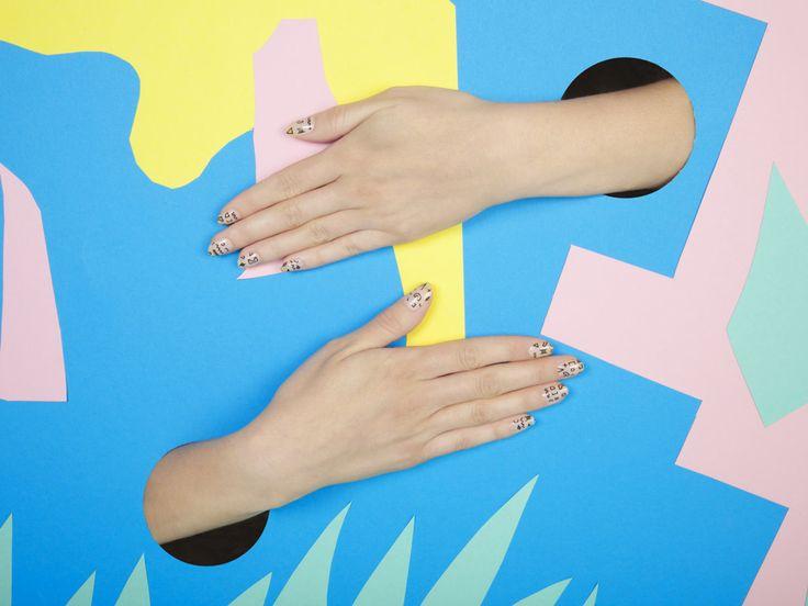 alfa.K + Camille Walala Nail Stickers - Cool Hunting