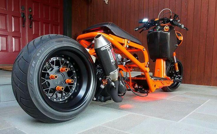 Honda Ruckus Orange Lowered Custom Bikez Pinterest