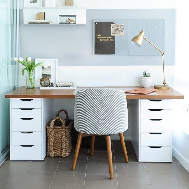 Wood Homeoffice Desk: Ideas For How To Build Your Own Desk Featured On The Blog