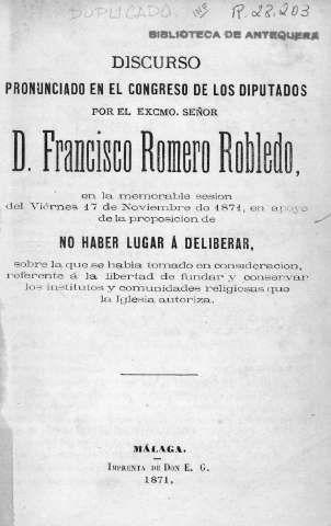 Romero Robledo, Francisco