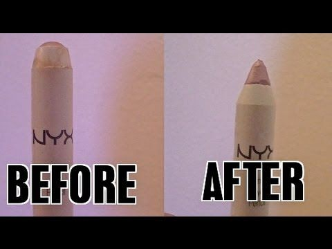 How to Sharpen NYX Jumbo Eye Pencils! 2 Minute Tip! A lot of people don't even know they can sharpen these!