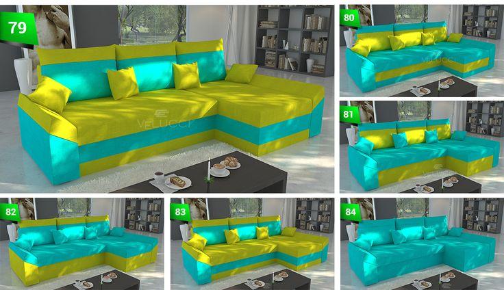 Die #Couch hat zwei #Behälter für #Bettwäsche und zweiseitigen #Kissen. Das #Ecksofa ist sehr leicht zu montieren als auch zu demontieren.