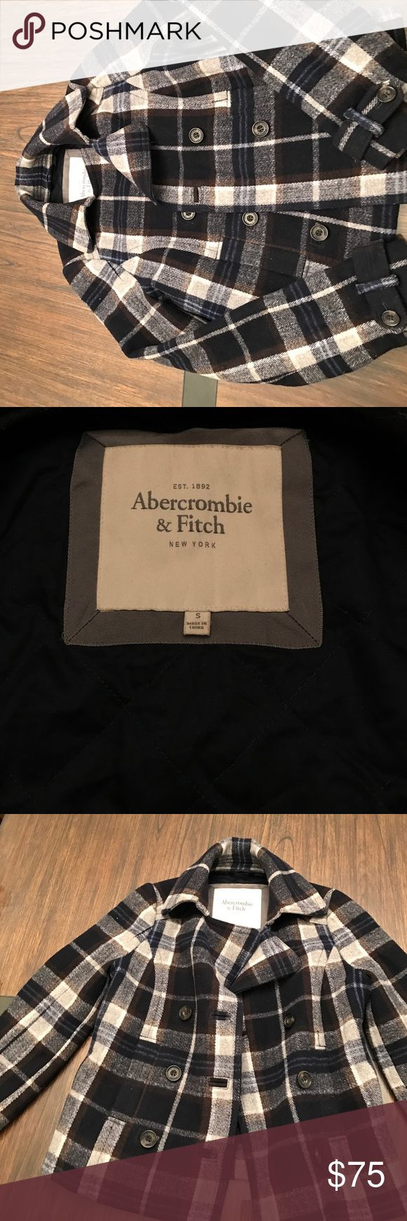 Abercrombie & Fitch Peacoat Abercrombie & Fitch women's peacoat size small. Excellent condition. Abercrombie & Fitch Jackets & Coats Pea Coats