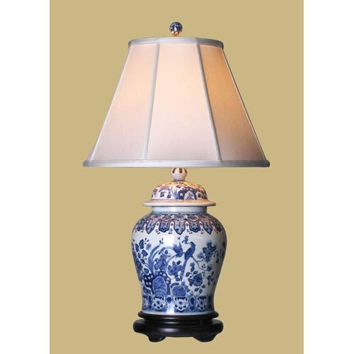 Blue And White Bedroom Lamp