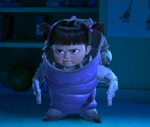 Boo from Monsters, Inc. Little girl.... BIG attitude! @Ashleigh Organ this is why p is named boo :)
