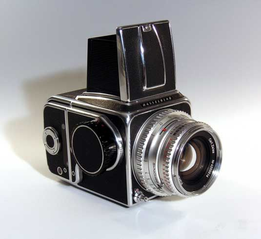 Hasselblad 500C Camera -- During World War II the Swedish government tasked Victor Hasselblad with designing a camera that mirrored a German aerial surveillance camera recovered from a downed plane.
