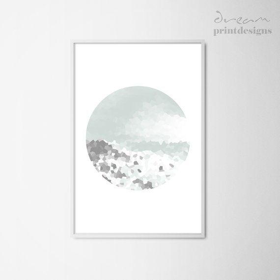Printable Minimal Poster Modern Abstract Circle Minimal