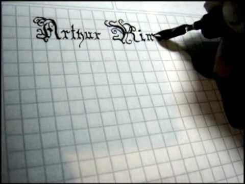 paso 1 para dibujar letras goticas