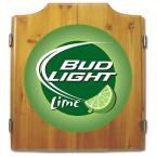 Wood Finish Dart Cabinet Set - Bud Light Lime