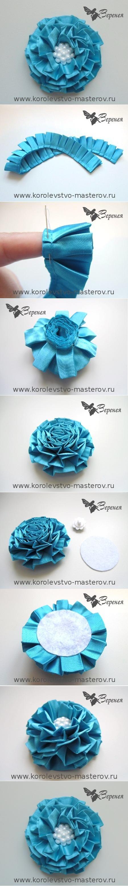 DIY Lace Ruff Flower