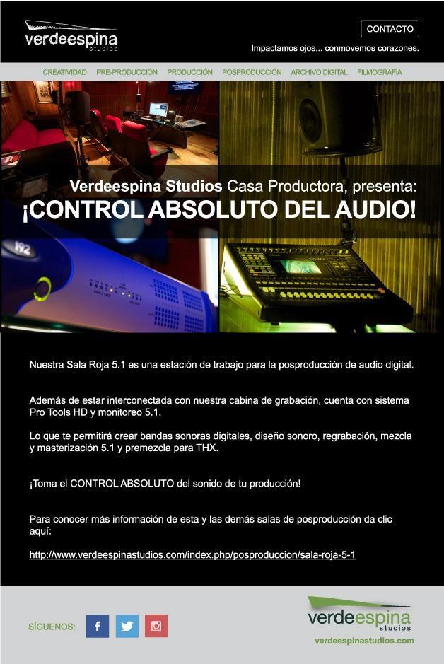 ¡Toma el control absoluto del sonido de tu producción! #casaproductora #posproducción #edición #audio