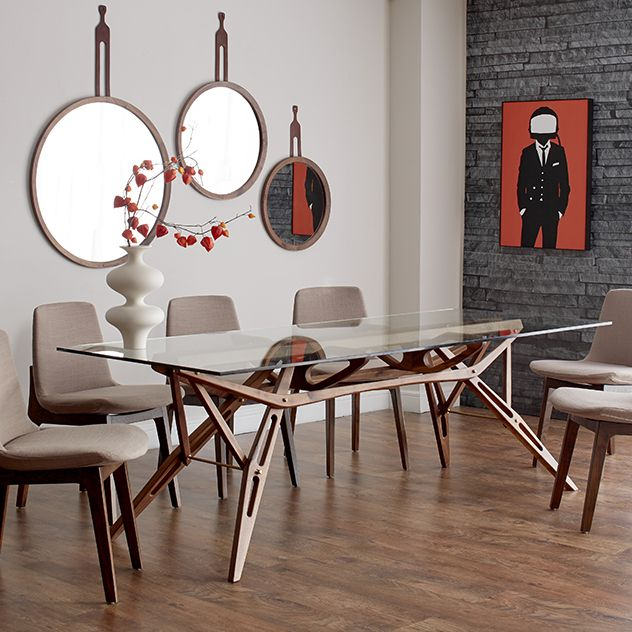 The Amsterdam Dining Table Is An Original Contemporary Form Inspired By Organic Mid