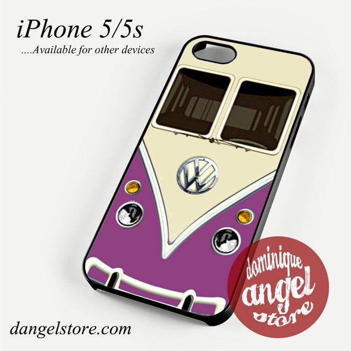 purple vw retro bus Phone case for iPhone 4/4s/5/5c/5s/6/6 plus