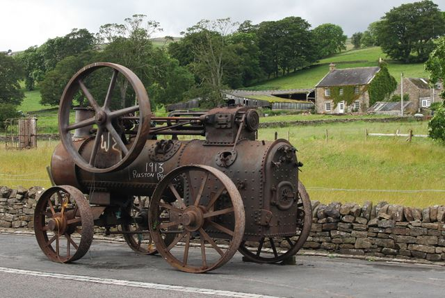 old steam engines | Old agricultural steam engine (C) Helen Wilkinson :: Geograph Britain ...