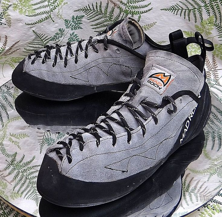 MAD ROCK GRAY LEATHER LACED ROCK CLIMBING SPORT SNEAKERS SHOES MENS SZ 10 EU 43 #MadRock #Walking