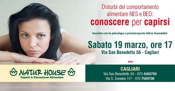 """""""ARMONIA CORPO E MENTE""""…. questo è il titolo che noi di Naturhouse Cagliari ( Via San Benedetto 56 e Via Sonnino 117 ), esperti in rieducazione alimentare, in collaborazione con la Dott.ssa Dafne Guandalini psicologa e psicoterapeuta, abbiamo scelto per racchiudere l'essenza del nostro progetto. INFO E PRENOTAZIONI: Naturhouse Via San Benedetto 56 Tel. 0704560700 / Cell. 3358497059 Naturhouse Via Sonnino 117 Tel. 0707569706 / Cell. 3926051797"""
