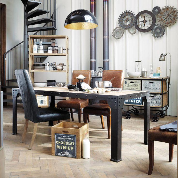 17 meilleures id es propos de maison du monde horloge for Lampe de bureau maison du monde