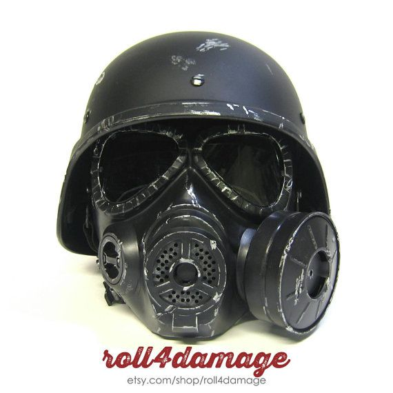 Fallout New Vegas NCR Ranger Helmet & Gas Mask by Roll4Damage