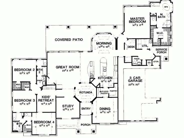 Eplans new american house plan detailed interior is sure for New american floor plans