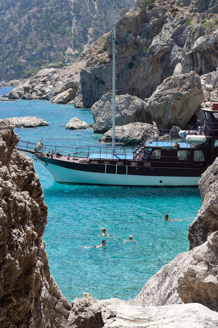 Swimming in #Karpathos Island, #Greece, #karpathos_hellenicdutyfree
