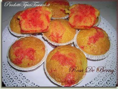 Cupcake al limone con cuore di pasta di fragola | Ricetta