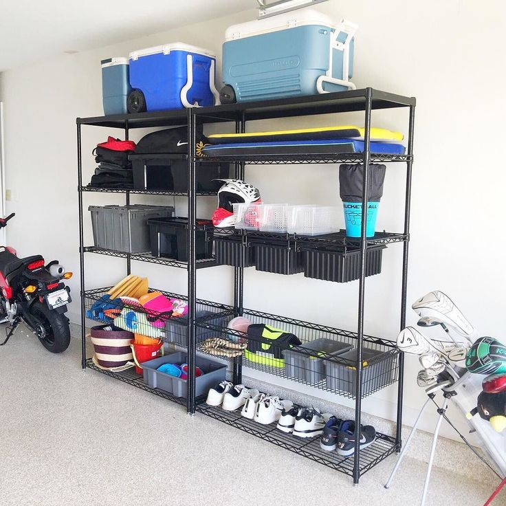 sports equipment organizer for garage 16 best neat garages images on garage shelving 8194