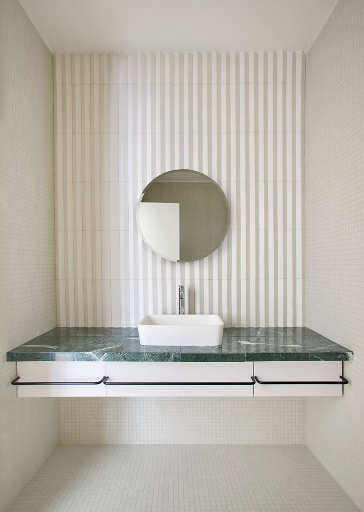 INSPIRATION: A bathroom space in all its simple geometry | est living