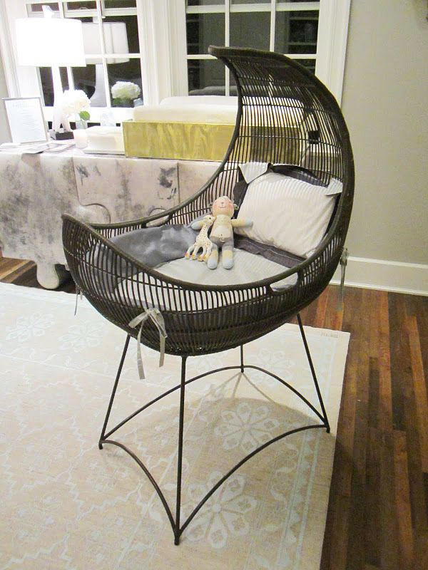 bassinet from Kenneth Cobonpue's rattan furniture collection