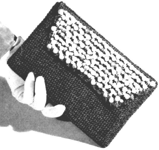 Clutch Bag Crochet Pattern - Vintage Crafts and More