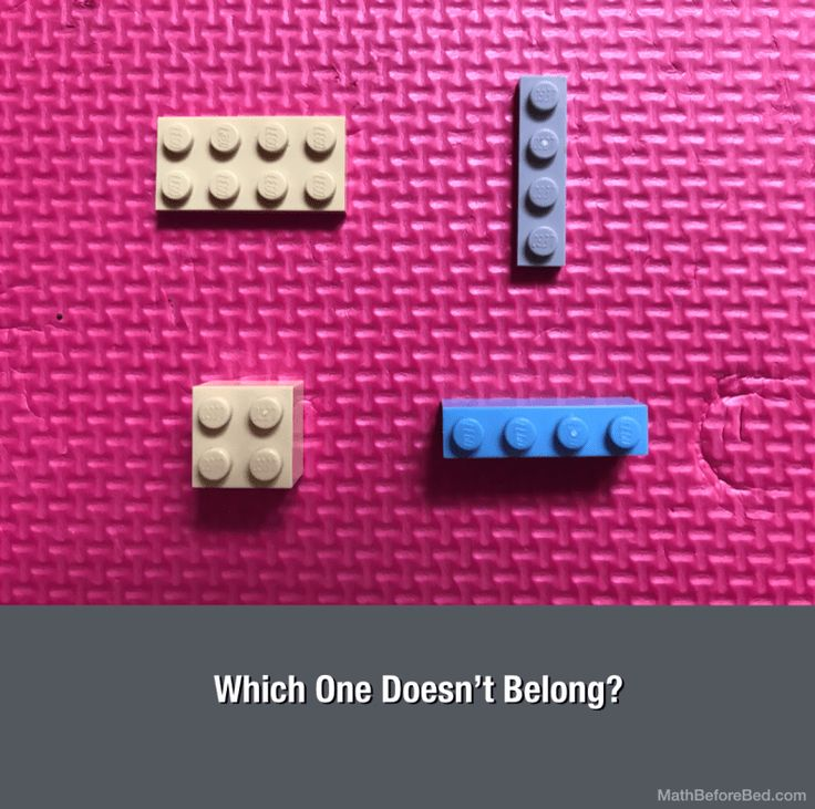 Which Lego Piece Doesn't Belong? – Math Before Bed