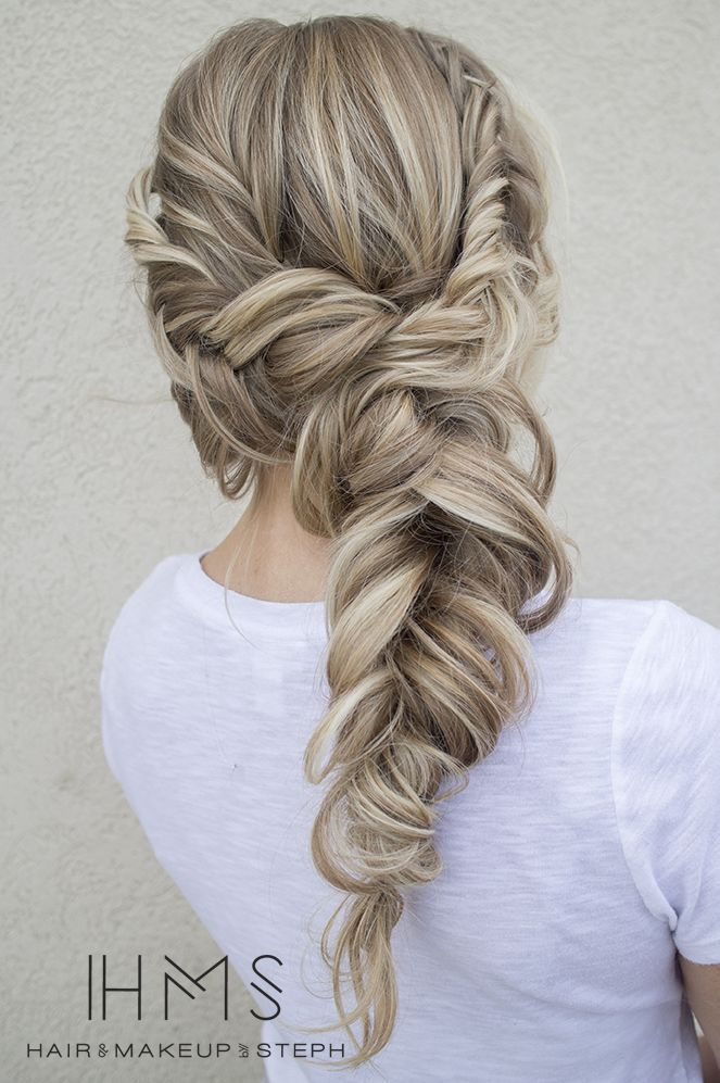 Loose Braided Hairstyle for Ash Blonde Hair