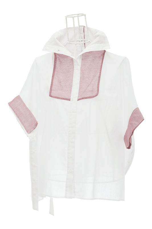 Chemise femme évasée en voile et tulle mauve ANNALISA Ken Okada http://shop.ken-okada.com/fr/8-okada-l-art