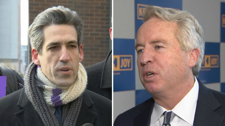 """""""When Chris Kennedy skirts the rules by using his connections to powerful attorneys to avoid affordable housing requirements, that doesn't just make him richer, that pushes people out of a neighborhood and makes working families struggle more,"""" Biss said Tuesday."""