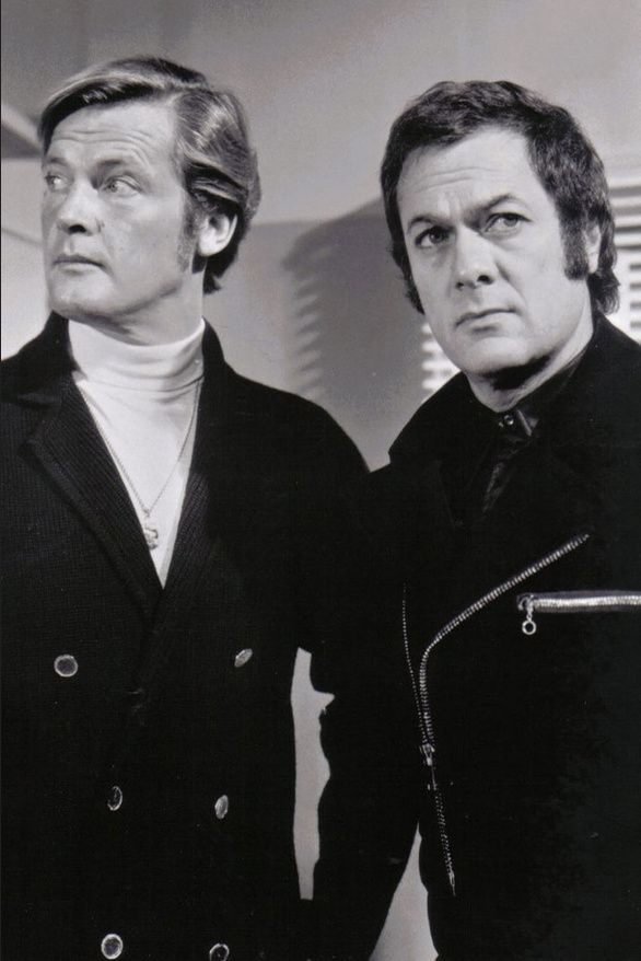 "Roger Moore and Tony Curtis in ""The Persuaders"""