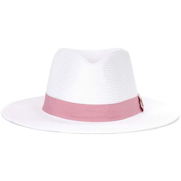 Melissa Odabash Fedora Hat (480 PEN) ❤ liked on Polyvore featuring accessories, hats, white, fedora hat, white fedora, white hat, melissa odabash and melissa odabash hats