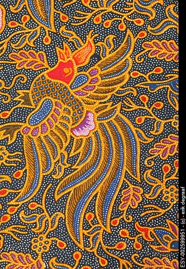 Detail of a batik design from Bali, Indonesia