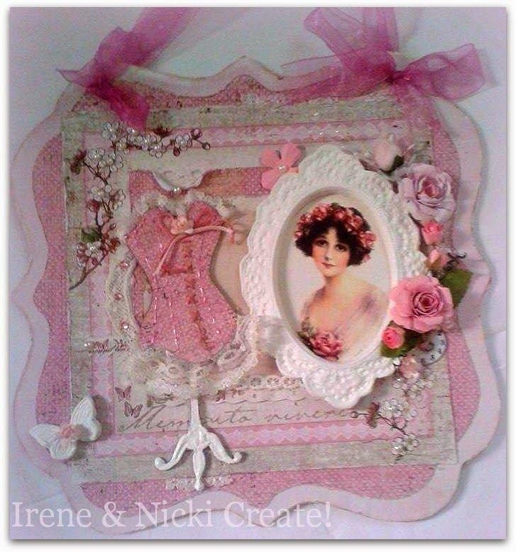 Irene & Nicki Create!  :           Pink lady Wall Hanging     ...