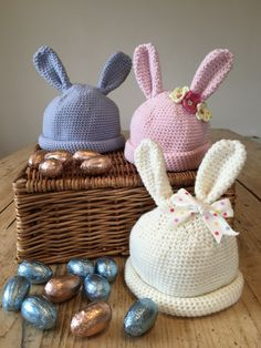 baby crochet: bunny hats for babies on the LoveCrochet blog