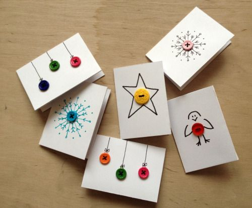 colorful christmas gift tags with buttons