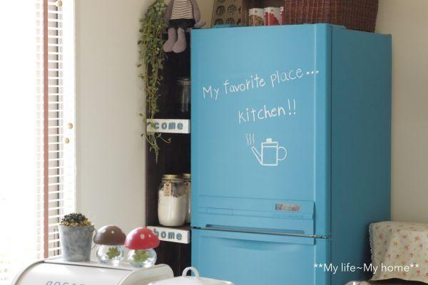 冷蔵庫 リメイク | まきんこさんの作品『冷蔵庫を ...