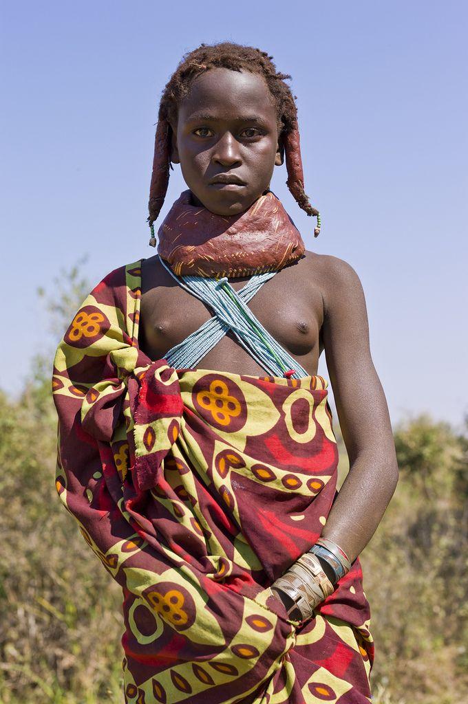 Muhuila girl near Mucuma, Angola