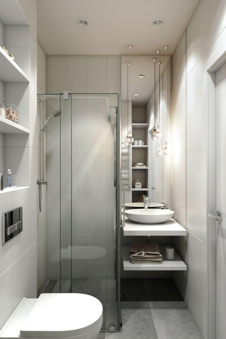Bodengleiche Dusche Klein Badezimmer Waschkonsole Eingebaute Regale Toilette Ernahrungsplan Kleine Badezimmer Design Badezimmer Design Kleine Badezimmer